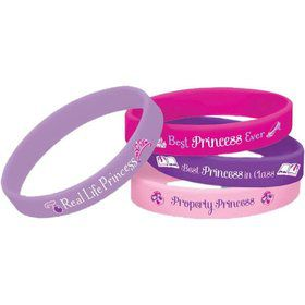 Sofia the First Rubber Bracelets Favors (4 Pack)