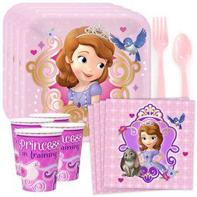 Sofia The First Standard Birthday Party Tableware Kit (Serves 8)