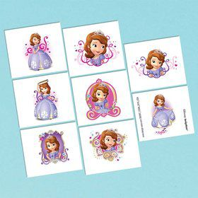 Sofia the First Tattoo Favors (16 Pack)