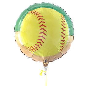 "Softball 18"" Mylar Balloon"