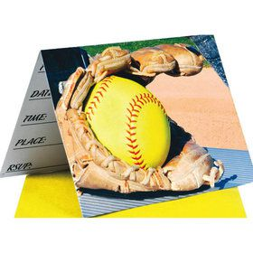 Softball Invitations (8 Count)