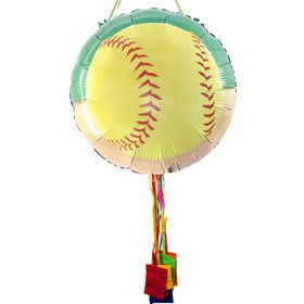 Softball Party Pull String Pinata