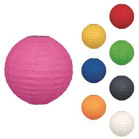 "Solid Color 10"" Paper Lantern Decorations (Each)"
