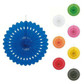 "Solid Color 16"" Decorative Fan Decoration (Each)"