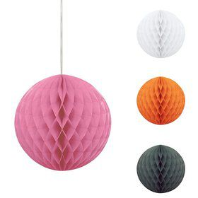 "Solid Color 8"" Honeycomb Ball Decoration (Each)"