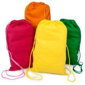 Solid Drawstring Backpacks (each)