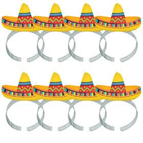 Sombrero Headbands (8 Count)