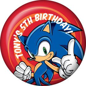 Sonic Personalized Button (Each)