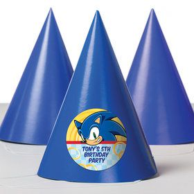 Sonic Personalized Party Hats (8 Count)