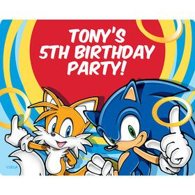 Sonic Personalized Rectangular Stickers (Sheet of 15)