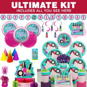 Spa Birthday Party Ultimate Tableware Kit (Serves 8)