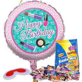 Spa Birthday Pull String Pinata Kit