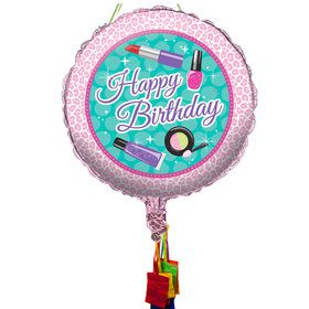 Spa Birthday Pull String Economy Pinata