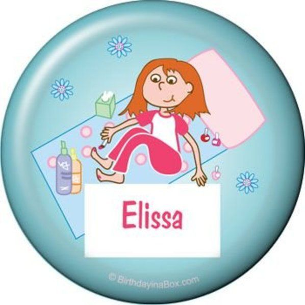 Spa day button custom buttons party supplies for B day party decoration