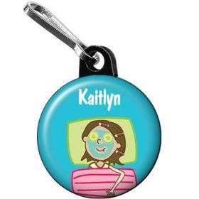 Spa Day Personalized Mini Zipper Pull (each)