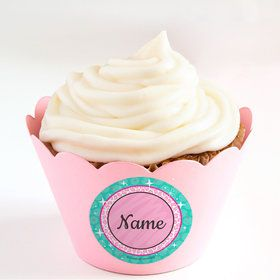 Spa Party Personalized Cupcake Wrappers (Set of 24)