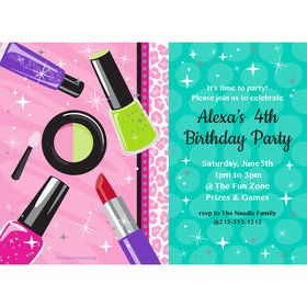 Spa Party Personalized Invitation (Each)