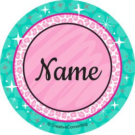 Spa Party Personalized Mini Stickers (Sheet of 24)