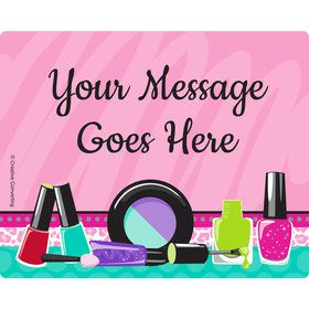 Spa Party Personalized Rectangular Stickers (Sheet of 15)