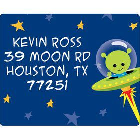 Space Alien Personalized Address Labels (Sheet of 15)