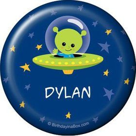 Space Alien Personalized Button (each)