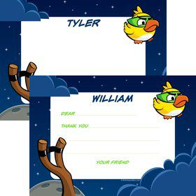 Space Birds Personalized Thank You Note (Each)