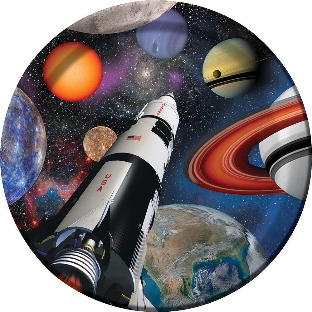 """Space Blast 9"""" Luncheon Plates (8 Pack) BB425533"""