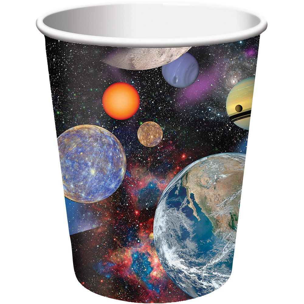 Space Blast 9oz Cups (8 Pack) - Party Supplies BB375533