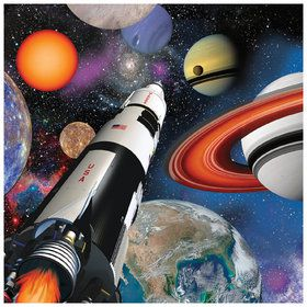 Space Blast Beverage Napkins (16 Pack)