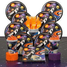 Space Blast Birthday Party Deluxe Tableware Kit Serves 8