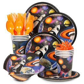 Space Blast Birthday Party Standard Tableware Kit Serves 8