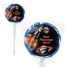 "Space Blast Personalized 2"" Lollipops (20 Pack)"