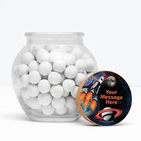 "Space Blast Personalized 3"" Glass Sphere Jars (Set of 12)"