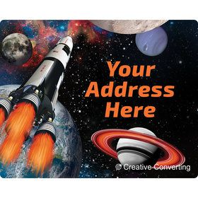 Space Blast Personalized Address Labels (Sheet of 15)