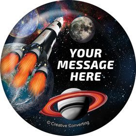 Space Blast Personalized Button (Each)