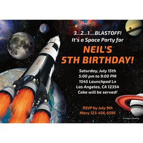 Space Blast Personalized Invitation (Each)