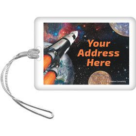 Space Blast Personalized Luggage Tag (Each)