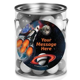 Space Blast Personalized Mini Paint Cans (12 Count)