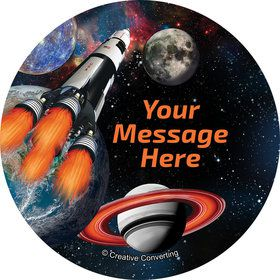 Space Blast Personalized Mini Stickers (Sheet of 20)