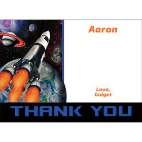 Space Blast Personalized Thank You (Each)