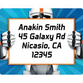 Space Clone Personalized Address Labels (sheet of 15)