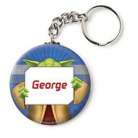 "Space Knight Personalized 2.25"" Key Chain (Each)"