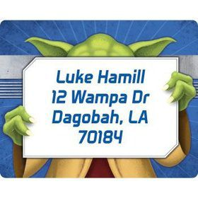 Space Knight Personalized Address Labels (sheet of 15)