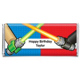 Space Knight Personalized Candy Bar Wrapper (Each)