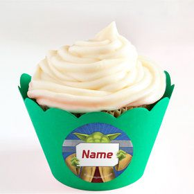 Space Knight Personalized Cupcake Wrappers (Set of 24)