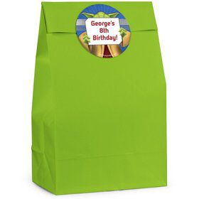 Space Knight Personalized Favor Bags (Pack Of 12)