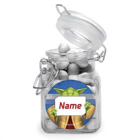 Space Knight Personalized Glass Apothecary Jars (12 Count)
