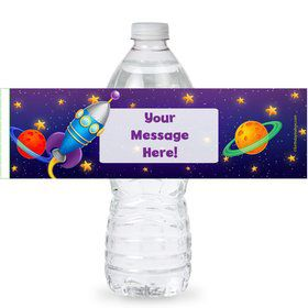 Space Personalized Bottle Labels (Sheet of 4)