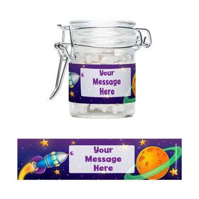 Space Personalized Glass Apothecary Jars (12 Count)