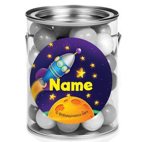 Space Personalized Mini Paint Cans (12 Count)